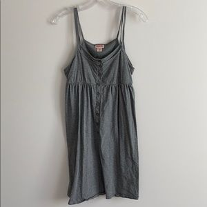 Grey Spaghetti Strap Dress